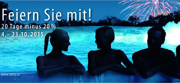 20 Jahre Thermen  Jubiläum im Avita Resort Bad Tatzmannsdorf