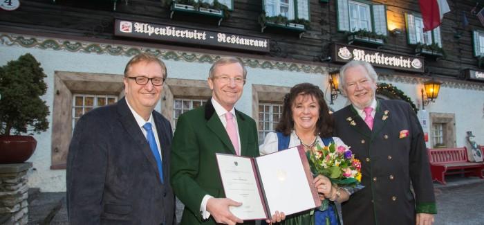 Kommerzialrat Verleihung an Magdalena Schneider Gössl